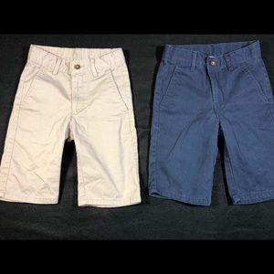 2 Pairs Boys sz 8 Slim Fit Adjustable Waist Shorts